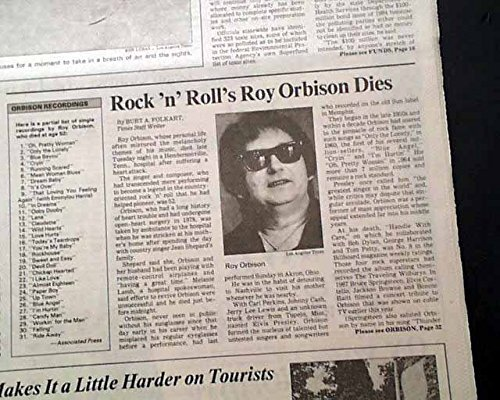 Roy Orbison died on Tuesday,December 6,1988 in Hendersonville,Tennessee,USA.jpg
